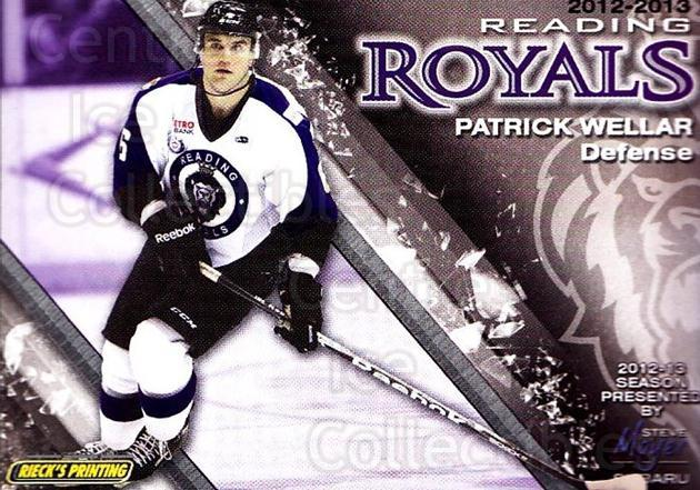 2012-13 Reading Royals #6 Patrick Wellar<br/>1 In Stock - $3.00 each - <a href=https://centericecollectibles.foxycart.com/cart?name=2012-13%20Reading%20Royals%20%236%20Patrick%20Wellar...&quantity_max=1&price=$3.00&code=732363 class=foxycart> Buy it now! </a>