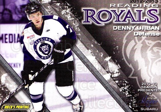 2012-13 Reading Royals #7 Dennis Urban<br/>1 In Stock - $3.00 each - <a href=https://centericecollectibles.foxycart.com/cart?name=2012-13%20Reading%20Royals%20%237%20Dennis%20Urban...&quantity_max=1&price=$3.00&code=732364 class=foxycart> Buy it now! </a>