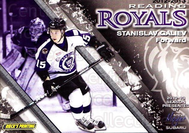 2012-13 Reading Royals #15 Stanislav Galiev<br/>1 In Stock - $3.00 each - <a href=https://centericecollectibles.foxycart.com/cart?name=2012-13%20Reading%20Royals%20%2315%20Stanislav%20Galie...&quantity_max=1&price=$3.00&code=732372 class=foxycart> Buy it now! </a>