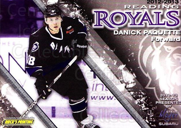 2012-13 Reading Royals #18 Danick Paquette<br/>1 In Stock - $3.00 each - <a href=https://centericecollectibles.foxycart.com/cart?name=2012-13%20Reading%20Royals%20%2318%20Danick%20Paquette...&quantity_max=1&price=$3.00&code=732375 class=foxycart> Buy it now! </a>
