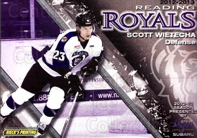 2012-13 Reading Royals #22 Scott Wietecha<br/>1 In Stock - $3.00 each - <a href=https://centericecollectibles.foxycart.com/cart?name=2012-13%20Reading%20Royals%20%2322%20Scott%20Wietecha...&quantity_max=1&price=$3.00&code=732379 class=foxycart> Buy it now! </a>