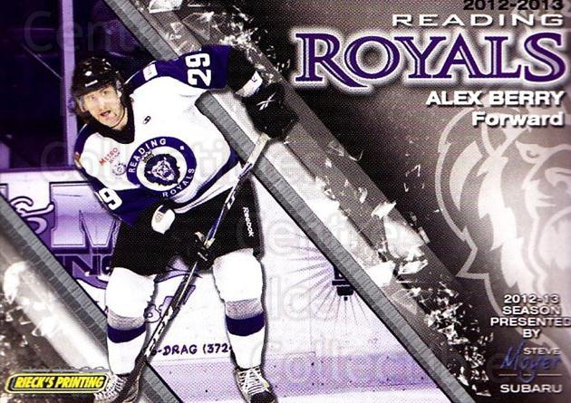 2012-13 Reading Royals #28 Alex Berry<br/>1 In Stock - $3.00 each - <a href=https://centericecollectibles.foxycart.com/cart?name=2012-13%20Reading%20Royals%20%2328%20Alex%20Berry...&quantity_max=1&price=$3.00&code=732385 class=foxycart> Buy it now! </a>