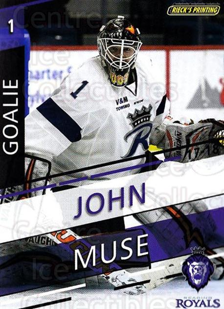 2017-18 Reading Royals #1 John Muse<br/>3 In Stock - $3.00 each - <a href=https://centericecollectibles.foxycart.com/cart?name=2017-18%20Reading%20Royals%20%231%20John%20Muse...&quantity_max=3&price=$3.00&code=732389 class=foxycart> Buy it now! </a>