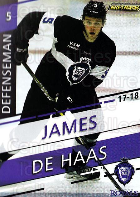 2017-18 Reading Royals #4 James De Haas<br/>3 In Stock - $3.00 each - <a href=https://centericecollectibles.foxycart.com/cart?name=2017-18%20Reading%20Royals%20%234%20James%20De%20Haas...&quantity_max=3&price=$3.00&code=732392 class=foxycart> Buy it now! </a>