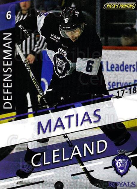 2017-18 Reading Royals #5 Matias Cleland<br/>3 In Stock - $3.00 each - <a href=https://centericecollectibles.foxycart.com/cart?name=2017-18%20Reading%20Royals%20%235%20Matias%20Cleland...&quantity_max=3&price=$3.00&code=732393 class=foxycart> Buy it now! </a>