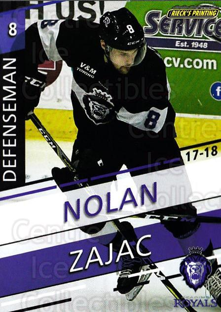 2017-18 Reading Royals #6 Nolan Zajac<br/>3 In Stock - $3.00 each - <a href=https://centericecollectibles.foxycart.com/cart?name=2017-18%20Reading%20Royals%20%236%20Nolan%20Zajac...&quantity_max=3&price=$3.00&code=732394 class=foxycart> Buy it now! </a>