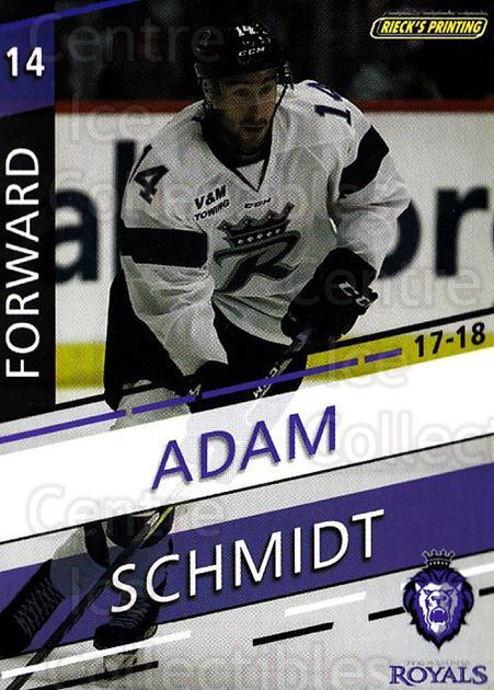 2017-18 Reading Royals #9 Adam Schmidt<br/>3 In Stock - $3.00 each - <a href=https://centericecollectibles.foxycart.com/cart?name=2017-18%20Reading%20Royals%20%239%20Adam%20Schmidt...&quantity_max=3&price=$3.00&code=732397 class=foxycart> Buy it now! </a>