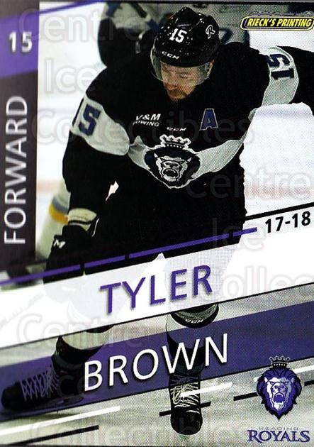 2017-18 Reading Royals #10 Tyler Brown<br/>3 In Stock - $3.00 each - <a href=https://centericecollectibles.foxycart.com/cart?name=2017-18%20Reading%20Royals%20%2310%20Tyler%20Brown...&quantity_max=3&price=$3.00&code=732398 class=foxycart> Buy it now! </a>