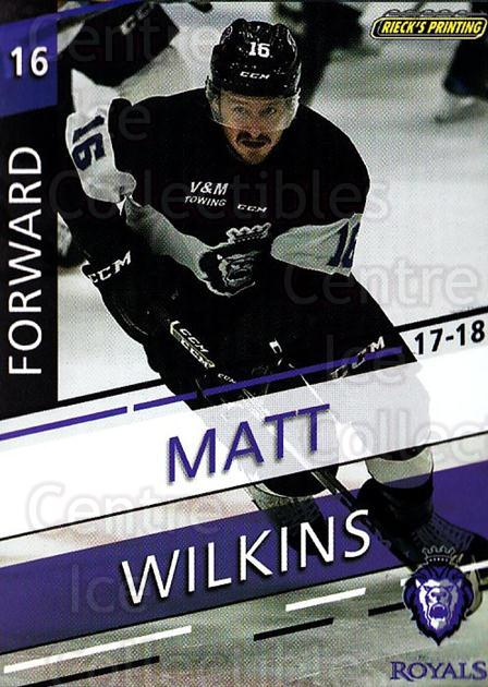 2017-18 Reading Royals #11 Matt Wilkins<br/>3 In Stock - $3.00 each - <a href=https://centericecollectibles.foxycart.com/cart?name=2017-18%20Reading%20Royals%20%2311%20Matt%20Wilkins...&quantity_max=3&price=$3.00&code=732399 class=foxycart> Buy it now! </a>