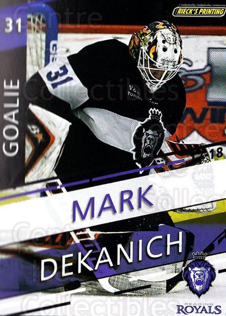 2017-18 Reading Royals #22 Mark Dekanich<br/>3 In Stock - $3.00 each - <a href=https://centericecollectibles.foxycart.com/cart?name=2017-18%20Reading%20Royals%20%2322%20Mark%20Dekanich...&quantity_max=3&price=$3.00&code=732410 class=foxycart> Buy it now! </a>