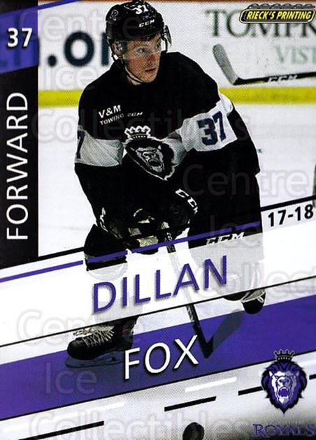 2017-18 Reading Royals #23 Dillan Fox<br/>3 In Stock - $3.00 each - <a href=https://centericecollectibles.foxycart.com/cart?name=2017-18%20Reading%20Royals%20%2323%20Dillan%20Fox...&quantity_max=3&price=$3.00&code=732411 class=foxycart> Buy it now! </a>
