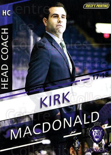 2017-18 Reading Royals #30 Kirk MacDonald<br/>3 In Stock - $3.00 each - <a href=https://centericecollectibles.foxycart.com/cart?name=2017-18%20Reading%20Royals%20%2330%20Kirk%20MacDonald...&quantity_max=3&price=$3.00&code=732418 class=foxycart> Buy it now! </a>