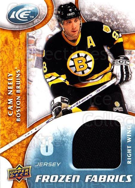 2009-10 UD Ice Frozen Fabrics #CN Cam Neely<br/>2 In Stock - $10.00 each - <a href=https://centericecollectibles.foxycart.com/cart?name=2009-10%20UD%20Ice%20Frozen%20Fabrics%20%23CN%20Cam%20Neely...&quantity_max=2&price=$10.00&code=732446 class=foxycart> Buy it now! </a>