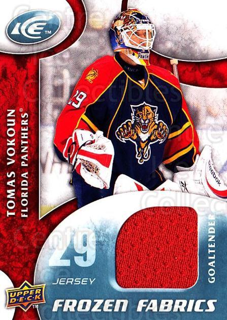 2009-10 UD Ice Frozen Fabrics #VO Tomas Vokoun<br/>1 In Stock - $10.00 each - <a href=https://centericecollectibles.foxycart.com/cart?name=2009-10%20UD%20Ice%20Frozen%20Fabrics%20%23VO%20Tomas%20Vokoun...&quantity_max=1&price=$10.00&code=732481 class=foxycart> Buy it now! </a>