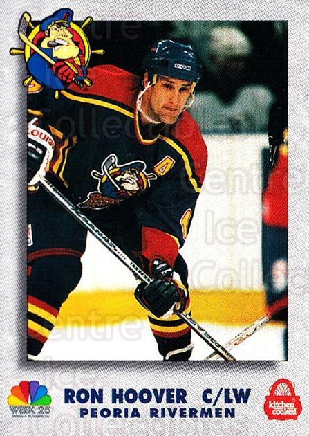 1995-96 Peoria Rivermen #3 Ron Hoover<br/>1 In Stock - $3.00 each - <a href=https://centericecollectibles.foxycart.com/cart?name=1995-96%20Peoria%20Rivermen%20%233%20Ron%20Hoover...&quantity_max=1&price=$3.00&code=732575 class=foxycart> Buy it now! </a>