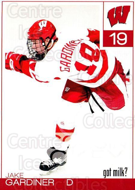 2010-11 Wisconsin Badgers Mens #8 Jake Gardiner<br/>5 In Stock - $5.00 each - <a href=https://centericecollectibles.foxycart.com/cart?name=2010-11%20Wisconsin%20Badgers%20Mens%20%238%20Jake%20Gardiner...&quantity_max=5&price=$5.00&code=732821 class=foxycart> Buy it now! </a>