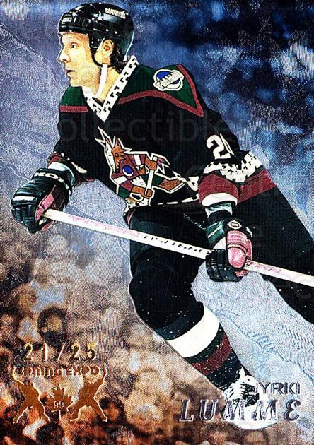 1998-99 Be A Player Spring Expo #259 Jyrki Lumme<br/>1 In Stock - $10.00 each - <a href=https://centericecollectibles.foxycart.com/cart?name=1998-99%20Be%20A%20Player%20Spring%20Expo%20%23259%20Jyrki%20Lumme...&quantity_max=1&price=$10.00&code=733117 class=foxycart> Buy it now! </a>