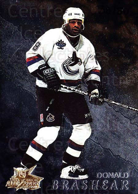 1998-99 Be A Player AS Game #143 Donald Brashear<br/>1 In Stock - $10.00 each - <a href=https://centericecollectibles.foxycart.com/cart?name=1998-99%20Be%20A%20Player%20AS%20Game%20%23143%20Donald%20Brashear...&quantity_max=1&price=$10.00&code=733301 class=foxycart> Buy it now! </a>