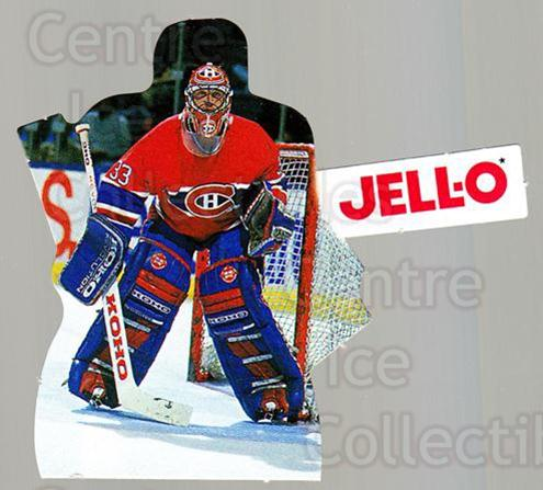 1993-94 Kraft Jell-O Players #14 Patrick Roy<br/>1 In Stock - $5.00 each - <a href=https://centericecollectibles.foxycart.com/cart?name=1993-94%20Kraft%20Jell-O%20Players%20%2314%20Patrick%20Roy...&quantity_max=1&price=$5.00&code=7339 class=foxycart> Buy it now! </a>