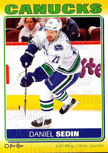 2012-13 O-Pee-Chee Stickers #90 Daniel Sedin<br/>2 In Stock - $2.00 each - <a href=https://centericecollectibles.foxycart.com/cart?name=2012-13%20O-Pee-Chee%20Stickers%20%2390%20Daniel%20Sedin...&quantity_max=2&price=$2.00&code=734109 class=foxycart> Buy it now! </a>