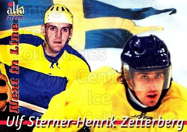 2004-05 Swedish Alfabilder Alfa Stars Next in Line #4 Ulf Sterner, Henrik Zetterberg<br/>1 In Stock - $5.00 each - <a href=https://centericecollectibles.foxycart.com/cart?name=2004-05%20Swedish%20Alfabilder%20Alfa%20Stars%20Next%20in%20Line%20%234%20Ulf%20Sterner,%20He...&quantity_max=1&price=$5.00&code=734168 class=foxycart> Buy it now! </a>