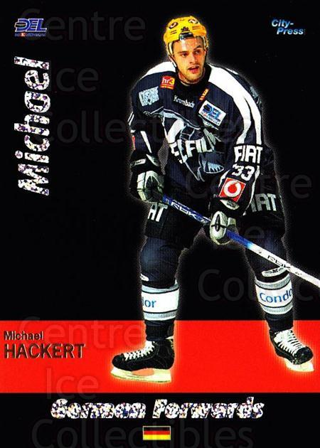 2006-07 German DEL German Forwards #2 Michael Hackert<br/>1 In Stock - $3.00 each - <a href=https://centericecollectibles.foxycart.com/cart?name=2006-07%20German%20DEL%20German%20Forwards%20%232%20Michael%20Hackert...&quantity_max=1&price=$3.00&code=734173 class=foxycart> Buy it now! </a>