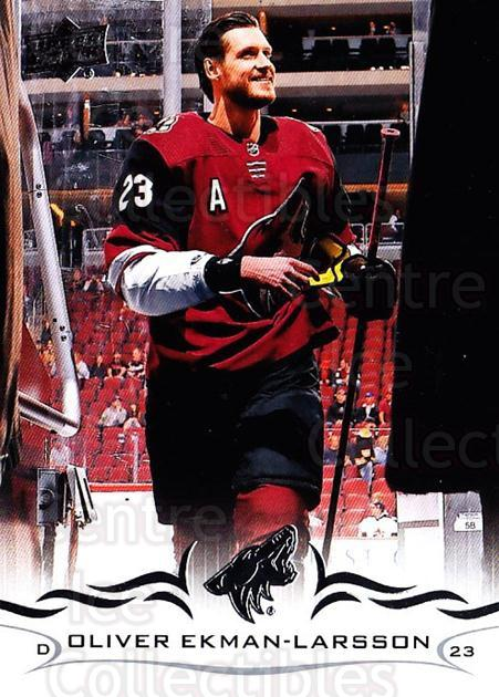 2018-19 Upper Deck #9 Oliver Ekman-Larsson<br/>12 In Stock - $1.00 each - <a href=https://centericecollectibles.foxycart.com/cart?name=2018-19%20Upper%20Deck%20%239%20Oliver%20Ekman-La...&quantity_max=12&price=$1.00&code=734200 class=foxycart> Buy it now! </a>