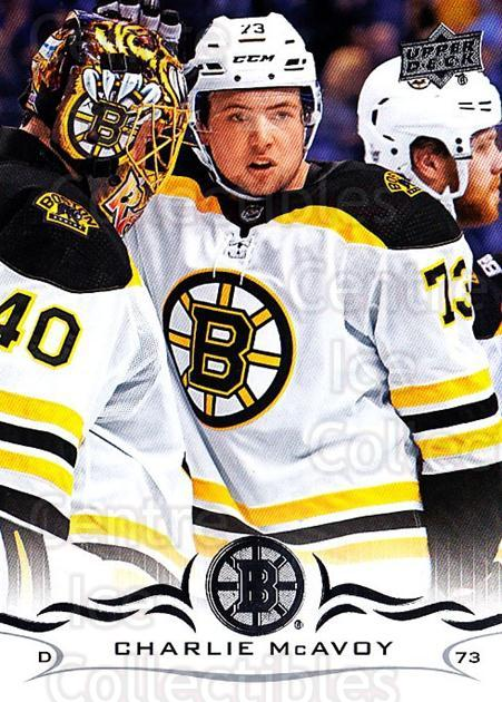 2018-19 Upper Deck #13 Charlie McAvoy<br/>5 In Stock - $2.00 each - <a href=https://centericecollectibles.foxycart.com/cart?name=2018-19%20Upper%20Deck%20%2313%20Charlie%20McAvoy...&quantity_max=5&price=$2.00&code=734204 class=foxycart> Buy it now! </a>