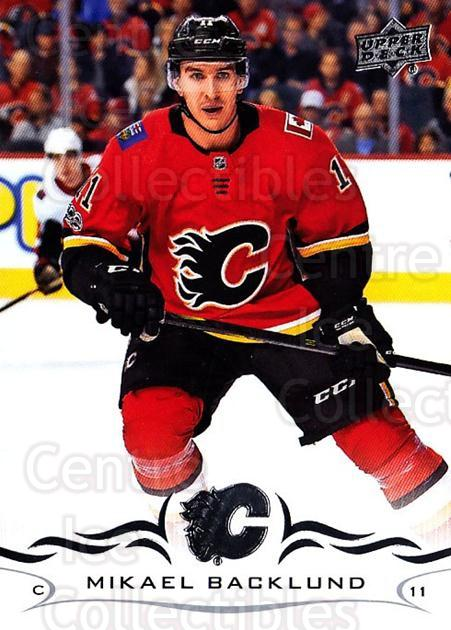 2018-19 Upper Deck #29 Mikael Backlund<br/>11 In Stock - $1.00 each - <a href=https://centericecollectibles.foxycart.com/cart?name=2018-19%20Upper%20Deck%20%2329%20Mikael%20Backlund...&quantity_max=11&price=$1.00&code=734220 class=foxycart> Buy it now! </a>