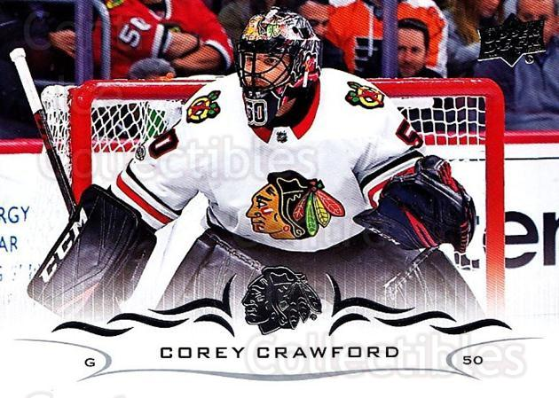 2018-19 Upper Deck #39 Corey Crawford<br/>12 In Stock - $1.00 each - <a href=https://centericecollectibles.foxycart.com/cart?name=2018-19%20Upper%20Deck%20%2339%20Corey%20Crawford...&quantity_max=12&price=$1.00&code=734230 class=foxycart> Buy it now! </a>