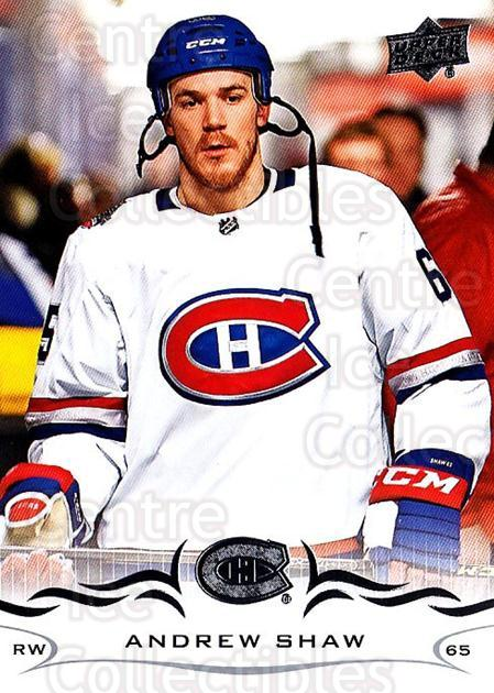 2018-19 Upper Deck #97 Andrew Shaw<br/>12 In Stock - $1.00 each - <a href=https://centericecollectibles.foxycart.com/cart?name=2018-19%20Upper%20Deck%20%2397%20Andrew%20Shaw...&quantity_max=12&price=$1.00&code=734288 class=foxycart> Buy it now! </a>