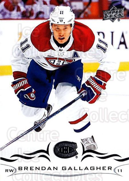 2018-19 Upper Deck #100 Brendan Gallagher<br/>5 In Stock - $1.00 each - <a href=https://centericecollectibles.foxycart.com/cart?name=2018-19%20Upper%20Deck%20%23100%20Brendan%20Gallagh...&quantity_max=5&price=$1.00&code=734291 class=foxycart> Buy it now! </a>
