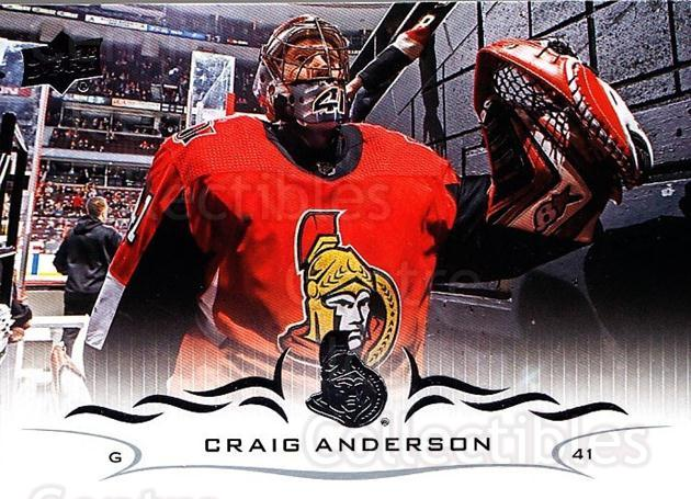 2018-19 Upper Deck #129 Craig Anderson<br/>12 In Stock - $1.00 each - <a href=https://centericecollectibles.foxycart.com/cart?name=2018-19%20Upper%20Deck%20%23129%20Craig%20Anderson...&quantity_max=12&price=$1.00&code=734320 class=foxycart> Buy it now! </a>