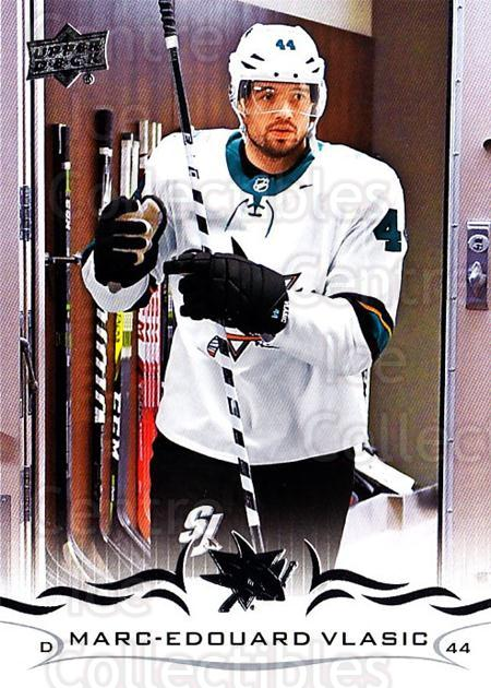 2018-19 Upper Deck #150 Marc-Edouard Vlasic<br/>12 In Stock - $1.00 each - <a href=https://centericecollectibles.foxycart.com/cart?name=2018-19%20Upper%20Deck%20%23150%20Marc-Edouard%20Vl...&quantity_max=12&price=$1.00&code=734341 class=foxycart> Buy it now! </a>