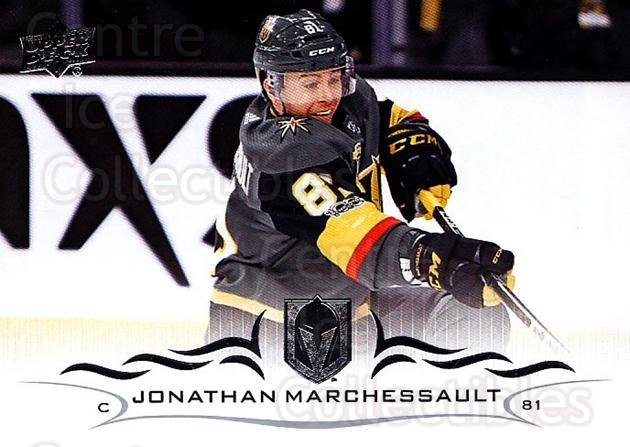2018-19 Upper Deck #179 Jonathan Marchessault<br/>12 In Stock - $1.00 each - <a href=https://centericecollectibles.foxycart.com/cart?name=2018-19%20Upper%20Deck%20%23179%20Jonathan%20Marche...&quantity_max=12&price=$1.00&code=734370 class=foxycart> Buy it now! </a>