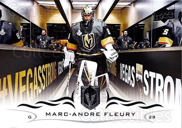 2018-19 Upper Deck #184 Marc-Andre Fleury<br/>11 In Stock - $1.00 each - <a href=https://centericecollectibles.foxycart.com/cart?name=2018-19%20Upper%20Deck%20%23184%20Marc-Andre%20Fleu...&quantity_max=11&price=$1.00&code=734375 class=foxycart> Buy it now! </a>