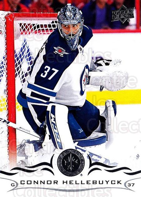2018-19 Upper Deck #193 Connor Hellebuyck<br/>6 In Stock - $1.00 each - <a href=https://centericecollectibles.foxycart.com/cart?name=2018-19%20Upper%20Deck%20%23193%20Connor%20Hellebuy...&quantity_max=6&price=$1.00&code=734384 class=foxycart> Buy it now! </a>