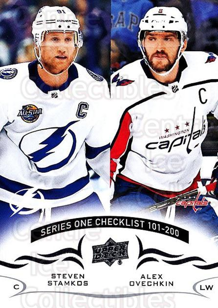 2018-19 Upper Deck #200 Steven Stamkos, Alexander Ovechkin, Checklist<br/>12 In Stock - $1.00 each - <a href=https://centericecollectibles.foxycart.com/cart?name=2018-19%20Upper%20Deck%20%23200%20Steven%20Stamkos,...&quantity_max=12&price=$1.00&code=734391 class=foxycart> Buy it now! </a>