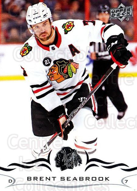 2018-19 Upper Deck #292 Brent Seabrook<br/>1 In Stock - $1.00 each - <a href=https://centericecollectibles.foxycart.com/cart?name=2018-19%20Upper%20Deck%20%23292%20Brent%20Seabrook...&quantity_max=1&price=$1.00&code=734483 class=foxycart> Buy it now! </a>