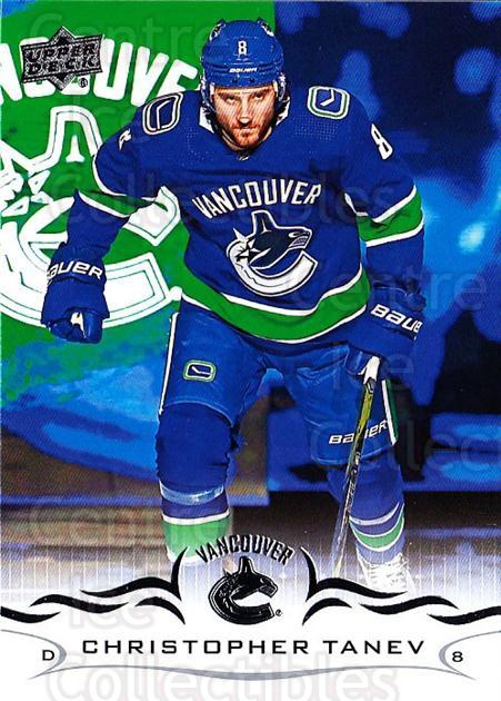 2018-19 Upper Deck #428 Christopher Tanev<br/>2 In Stock - $1.00 each - <a href=https://centericecollectibles.foxycart.com/cart?name=2018-19%20Upper%20Deck%20%23428%20Christopher%20Tan...&quantity_max=2&price=$1.00&code=734619 class=foxycart> Buy it now! </a>