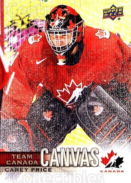 2017-18 Upper Deck Team Canada Canvas #17 Carey Price<br/>1 In Stock - $10.00 each - <a href=https://centericecollectibles.foxycart.com/cart?name=2017-18%20Upper%20Deck%20Team%20Canada%20Canvas%20%2317%20Carey%20Price...&quantity_max=1&price=$10.00&code=734712 class=foxycart> Buy it now! </a>