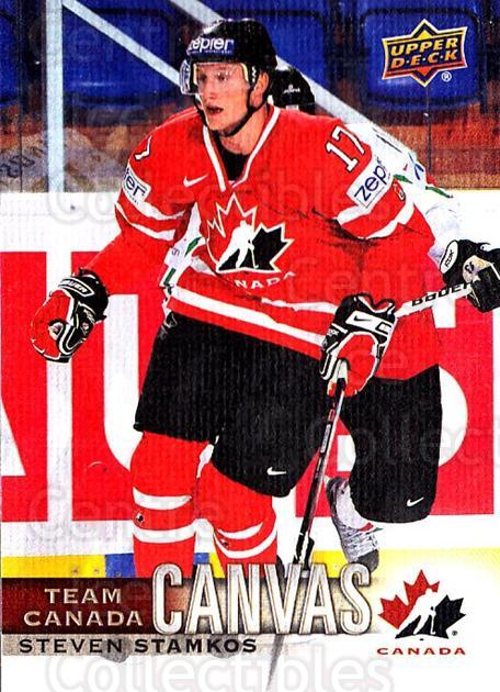 2017-18 Upper Deck Team Canada Canvas #23 Steven Stamkos<br/>1 In Stock - $5.00 each - <a href=https://centericecollectibles.foxycart.com/cart?name=2017-18%20Upper%20Deck%20Team%20Canada%20Canvas%20%2323%20Steven%20Stamkos...&quantity_max=1&price=$5.00&code=734718 class=foxycart> Buy it now! </a>