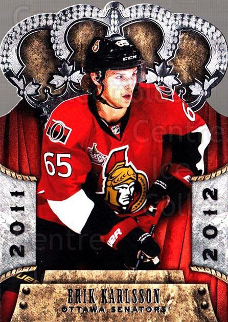 2011-12 Crown Royale #65 Erik Karlsson<br/>1 In Stock - $2.00 each - <a href=https://centericecollectibles.foxycart.com/cart?name=2011-12%20Crown%20Royale%20%2365%20Erik%20Karlsson...&quantity_max=1&price=$2.00&code=734815 class=foxycart> Buy it now! </a>