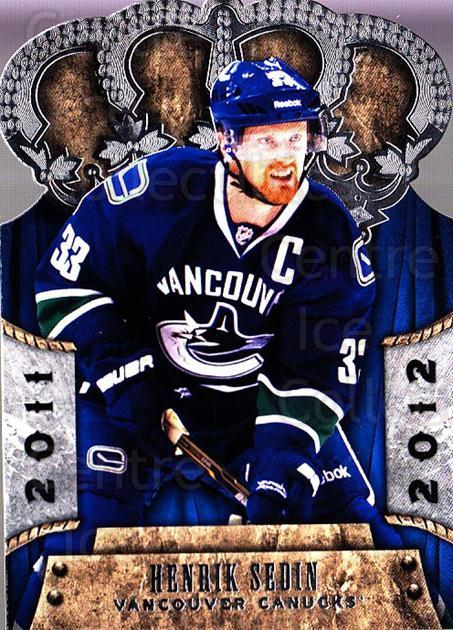 2011-12 Crown Royale #92 Henrik Sedin<br/>1 In Stock - $2.00 each - <a href=https://centericecollectibles.foxycart.com/cart?name=2011-12%20Crown%20Royale%20%2392%20Henrik%20Sedin...&quantity_max=1&price=$2.00&code=734842 class=foxycart> Buy it now! </a>