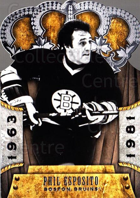 2011-12 Crown Royale #117 Phil Esposito<br/>1 In Stock - $3.00 each - <a href=https://centericecollectibles.foxycart.com/cart?name=2011-12%20Crown%20Royale%20%23117%20Phil%20Esposito...&quantity_max=1&price=$3.00&code=734867 class=foxycart> Buy it now! </a>