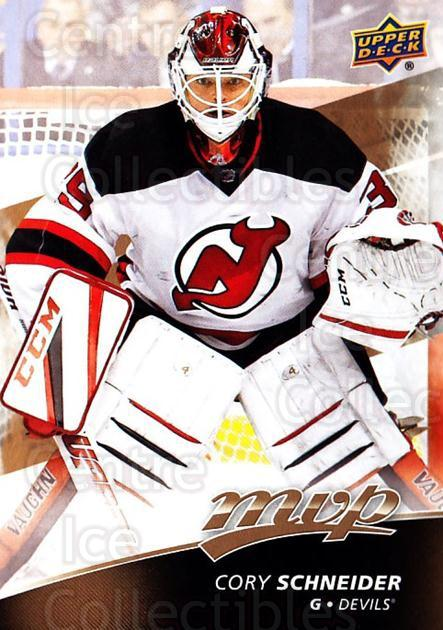 2017-18 Upper Deck MVP #22 Cory Schneider<br/>6 In Stock - $1.00 each - <a href=https://centericecollectibles.foxycart.com/cart?name=2017-18%20Upper%20Deck%20MVP%20%2322%20Cory%20Schneider...&quantity_max=6&price=$1.00&code=735024 class=foxycart> Buy it now! </a>