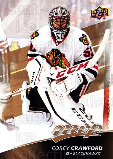 2017-18 Upper Deck MVP #40 Corey Crawford<br/>6 In Stock - $1.00 each - <a href=https://centericecollectibles.foxycart.com/cart?name=2017-18%20Upper%20Deck%20MVP%20%2340%20Corey%20Crawford...&quantity_max=6&price=$1.00&code=735042 class=foxycart> Buy it now! </a>