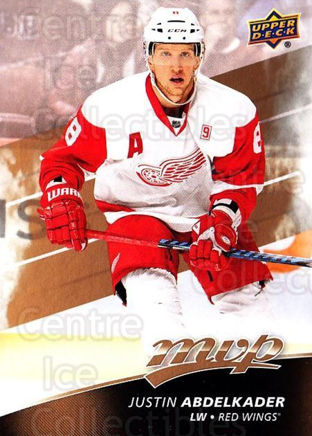 2017-18 Upper Deck MVP #53 Justin Abdelkader<br/>4 In Stock - $1.00 each - <a href=https://centericecollectibles.foxycart.com/cart?name=2017-18%20Upper%20Deck%20MVP%20%2353%20Justin%20Abdelkad...&quantity_max=4&price=$1.00&code=735055 class=foxycart> Buy it now! </a>