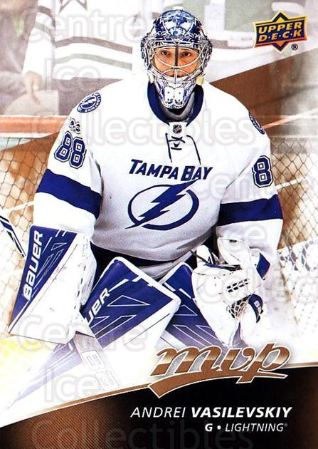 2017-18 Upper Deck MVP #87 Andrei Vasilevskiy<br/>6 In Stock - $1.00 each - <a href=https://centericecollectibles.foxycart.com/cart?name=2017-18%20Upper%20Deck%20MVP%20%2387%20Andrei%20Vasilevs...&quantity_max=6&price=$1.00&code=735089 class=foxycart> Buy it now! </a>