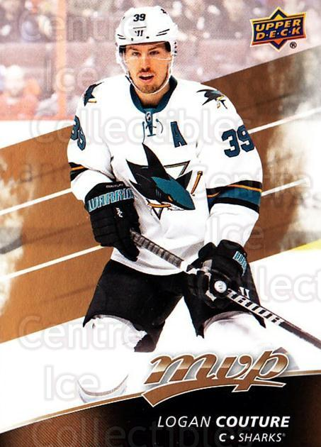 2017-18 Upper Deck MVP #131 Logan Couture<br/>5 In Stock - $1.00 each - <a href=https://centericecollectibles.foxycart.com/cart?name=2017-18%20Upper%20Deck%20MVP%20%23131%20Logan%20Couture...&quantity_max=5&price=$1.00&code=735133 class=foxycart> Buy it now! </a>
